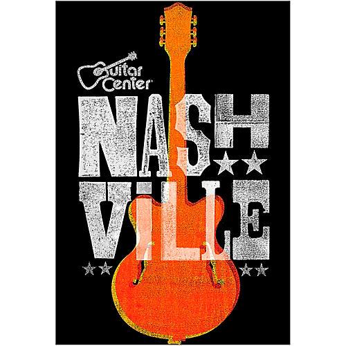 Guitar Center Nashville Guitar Graphic Magnet