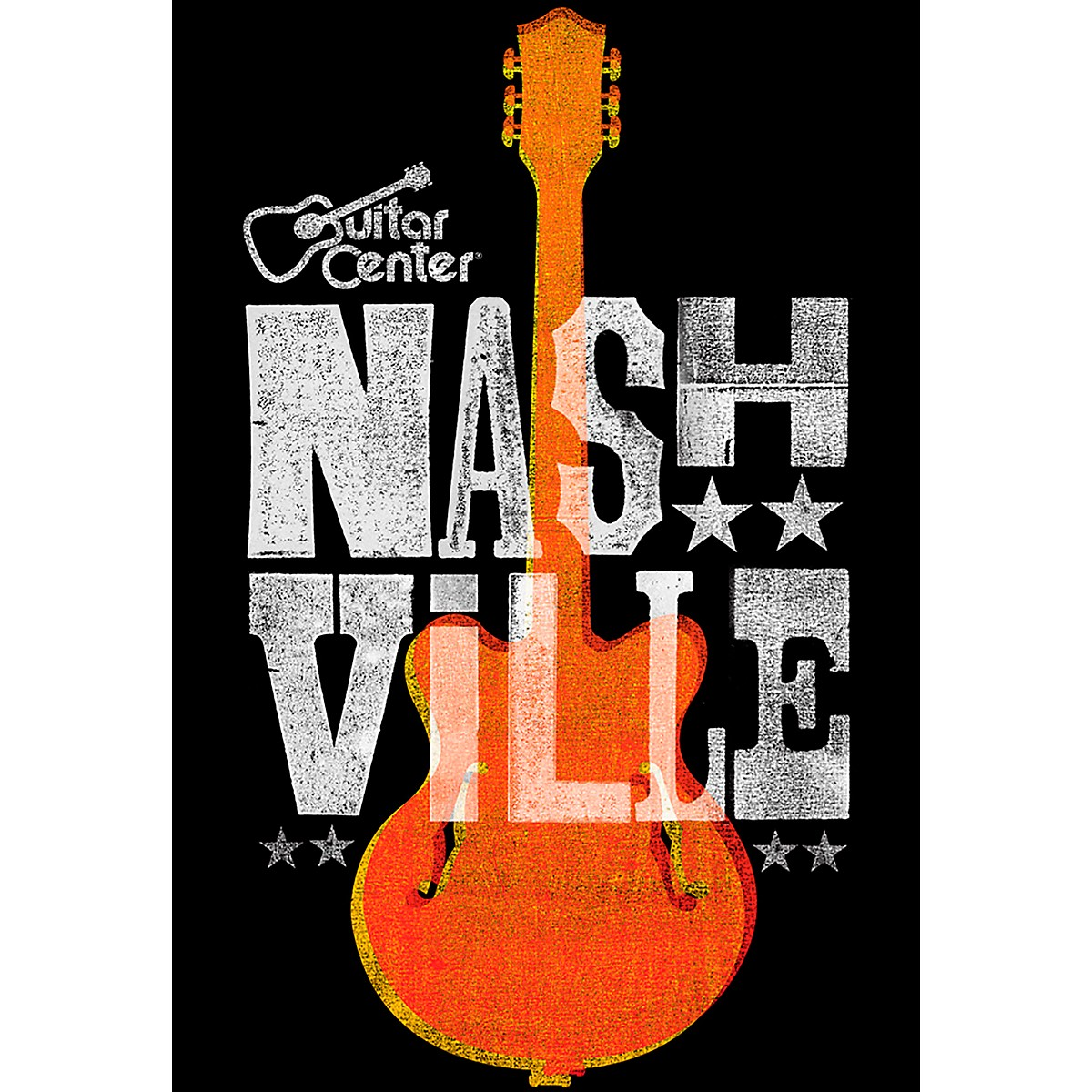 Guitar Center Nashville Guitar Graphic Sticker