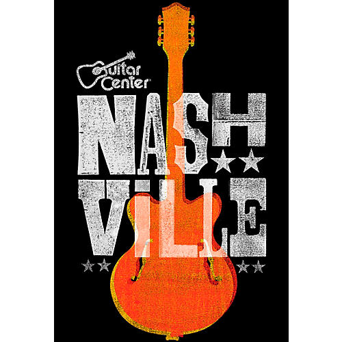 Guitar Center Nashville Guitar Graphic Sticker