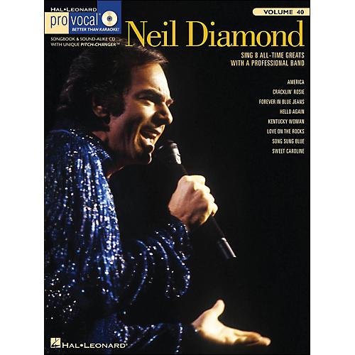 Hal Leonard Neil Diamond - Pro Vocal Songbook for Male Singers Volume 40 Book/CD
