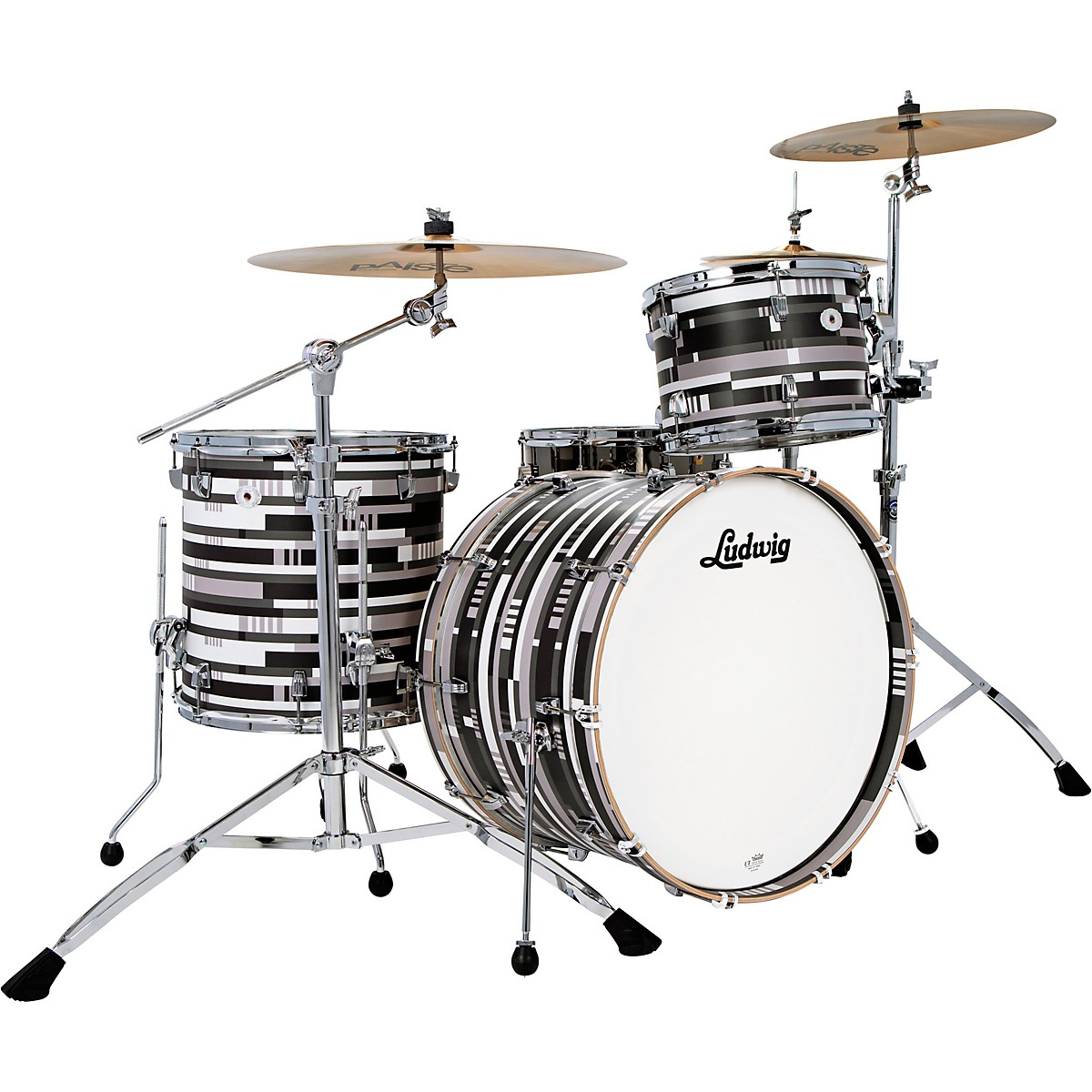 Ludwig NeuSonic Special-Edition 3-piece FAB Shell Pack with Digital Black Oyster Veneer