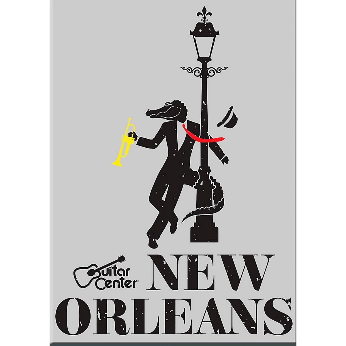Guitar Center New Orleans Alligator Graphic Sticker