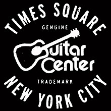 Guitar Center New York City and Times Square GO - White/Black Sticker