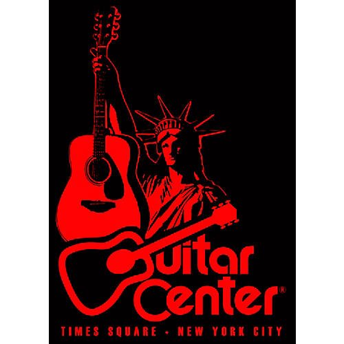 Guitar Center New York Statue of Liberty - Red/Black Sticker