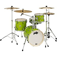 New Yorker 4-Piece Shell Pack w/ 16 in. Bass Drum Electric Green Sparkle