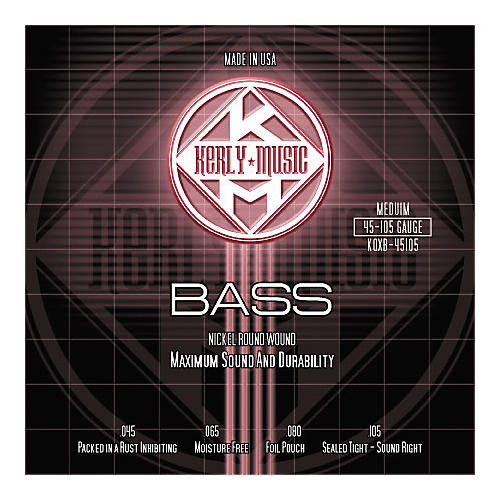 Kerly Music Nickel Plated Bass Strings Medium