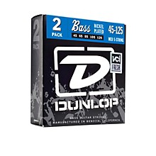 Dunlop Nickel Plated Steel Bass Strings - Medium 5-String 2 Pack