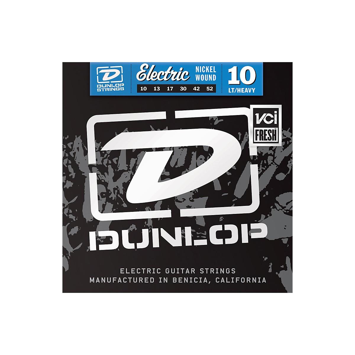 Dunlop Nickel Plated Steel Electric Guitar Strings - Light Top Heavy Bottom 10's