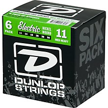 Dunlop Nickel Plated Steel Electric Guitar Strings Medium Heavy 6-Pack