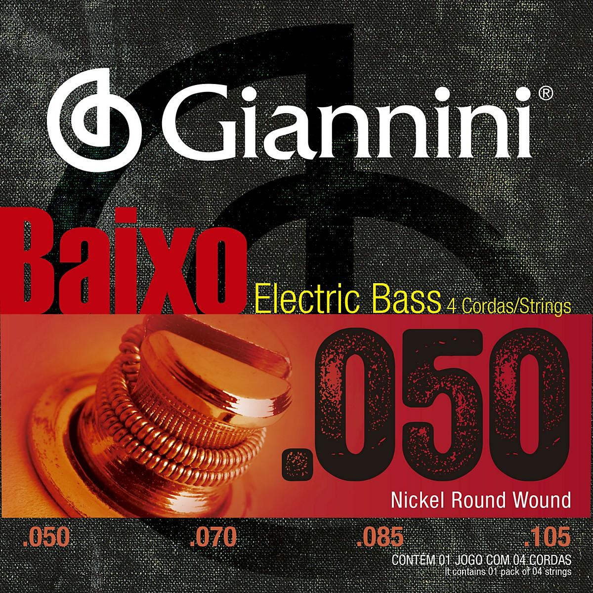 Giannini Nickel Round Wound Medium .50-.105  Electric Bass Strings