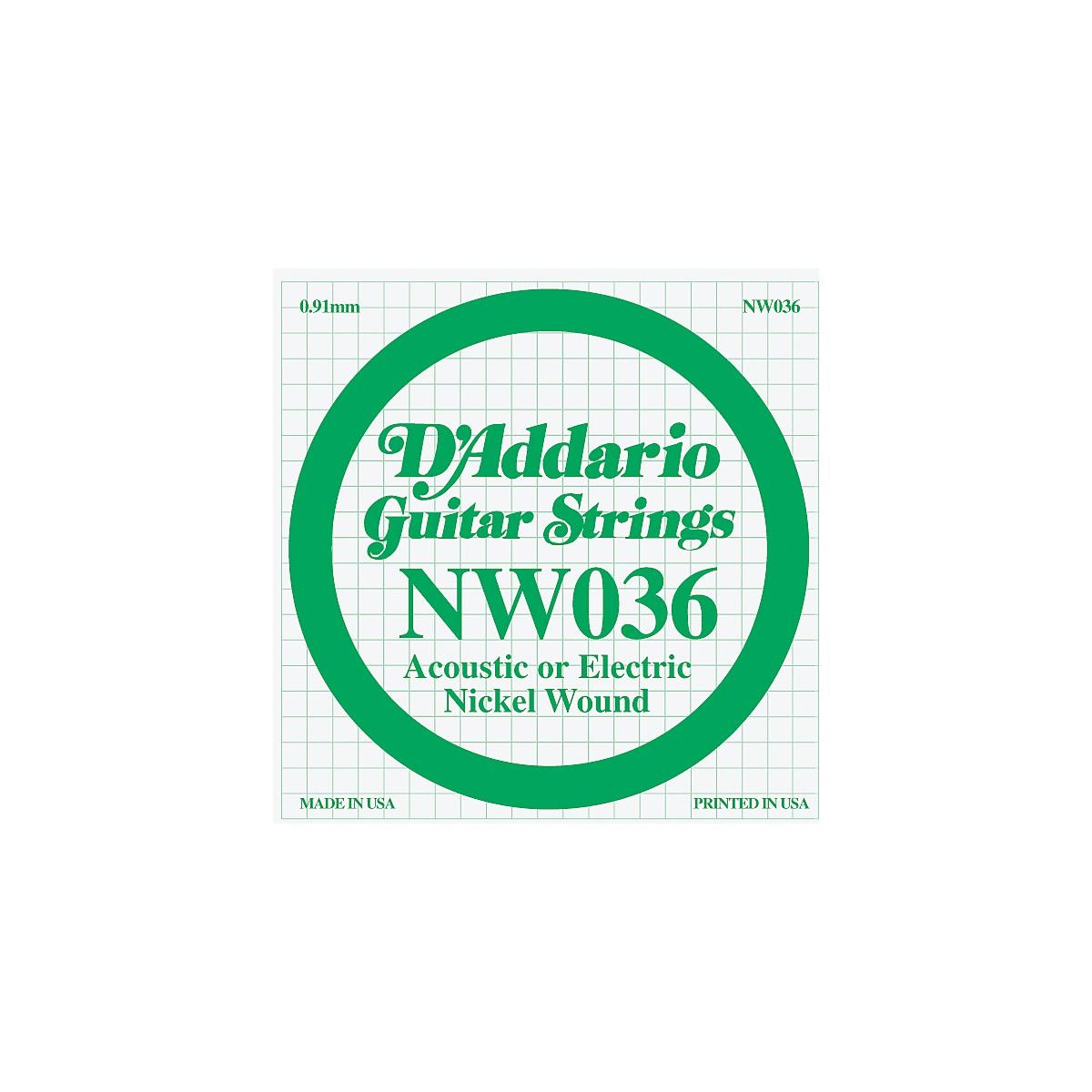 D'Addario Nickel Wound Single String