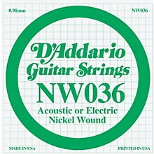 D'Addario Nickel Wound Single String 5-Pack .036