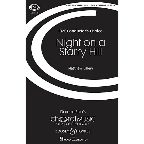 Boosey and Hawkes Night on a Starry Hill (CME Conductor's Choice) SATB a cappella composed by Matthew Emery