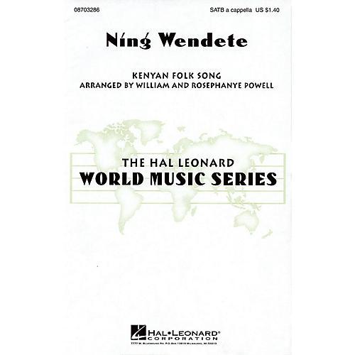 Hal Leonard Ning Wendete SATB DV A Cappella arranged by William Powell