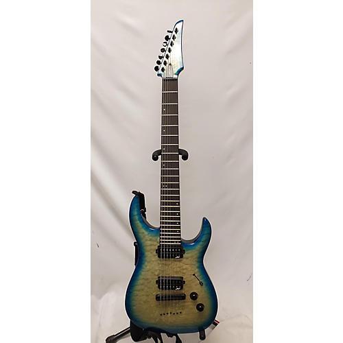 used legator ninja 200 se 7 string solid body electric guitar teal burst guitar center. Black Bedroom Furniture Sets. Home Design Ideas