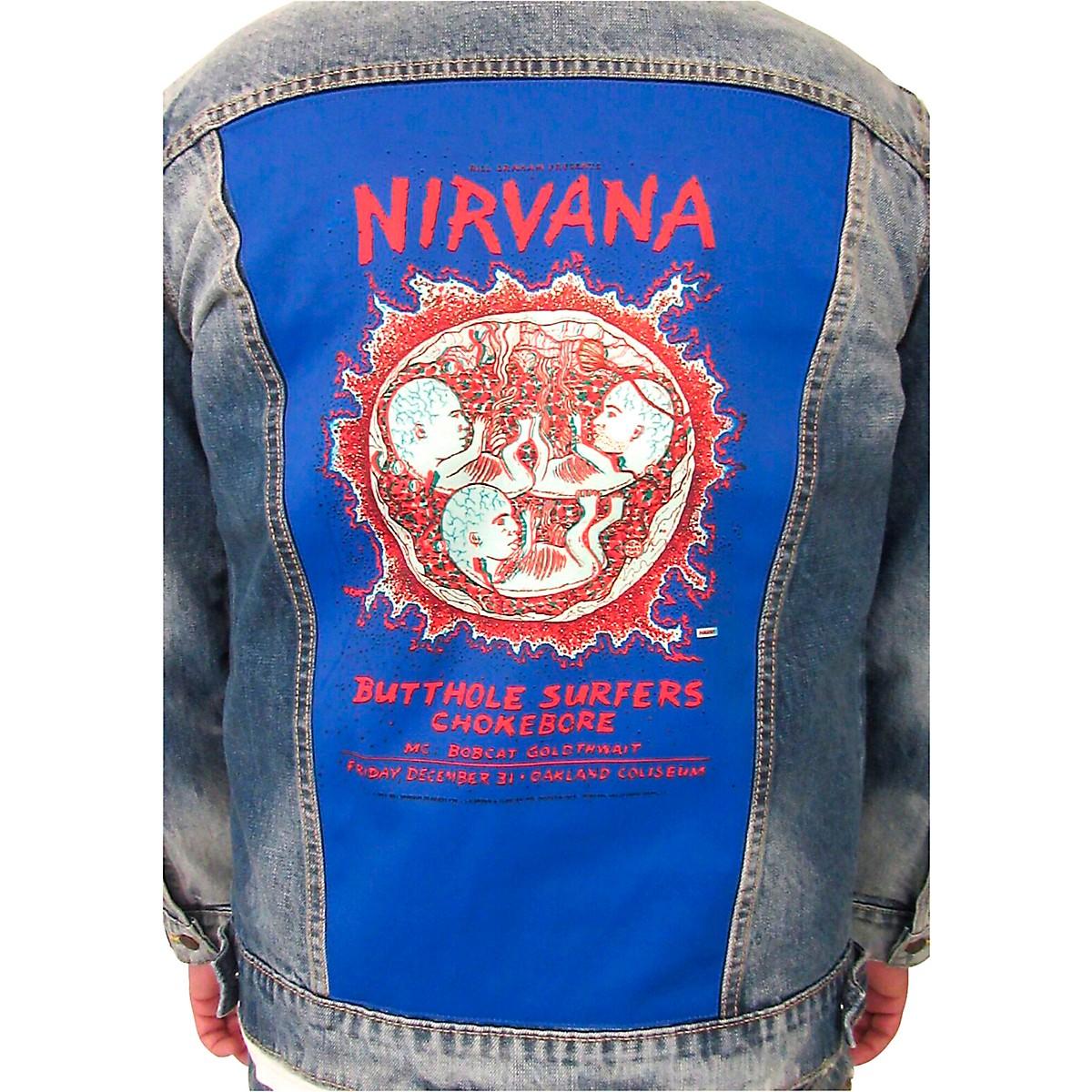 Dragonfly Clothing Nirvana - Oakland Coliseum Embryo - Mens Denim Jacket