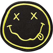 C&D Visionary Nirvana Smiley Face Patch