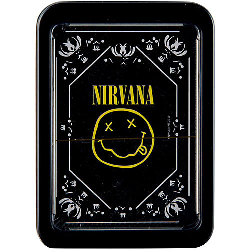 Iconic Concepts Nirvana Smiley Logo Playing Cards in Tin Gift Box
