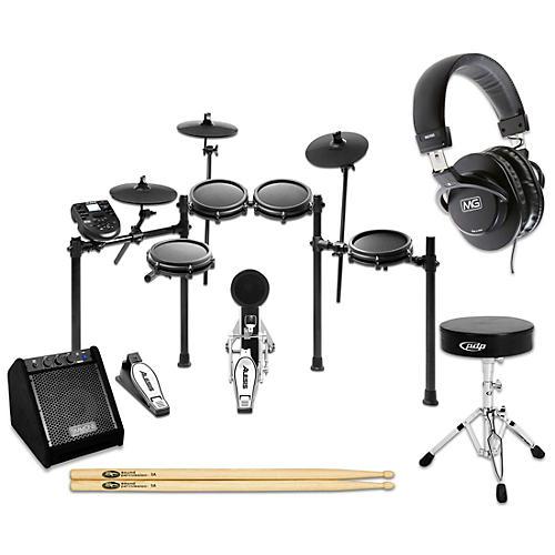 Alesis Nitro Mesh Electronic Drum Set Complete Bundle with Simmons DA25 Monitor