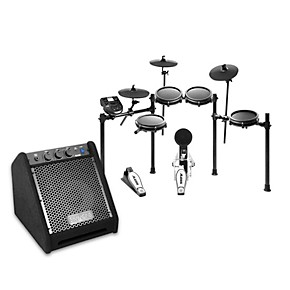 alesis nitro mesh electronic drum set with da25 amp guitar center. Black Bedroom Furniture Sets. Home Design Ideas