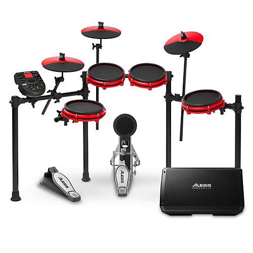 Alesis Nitro Mesh Special Edition Electronic Drum Kit With Mesh Pads and Strike 8 Drum Set Monitor