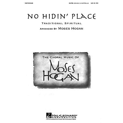 Hal Leonard No Hidin' Place SATB DV A Cappella arranged by Moses Hogan