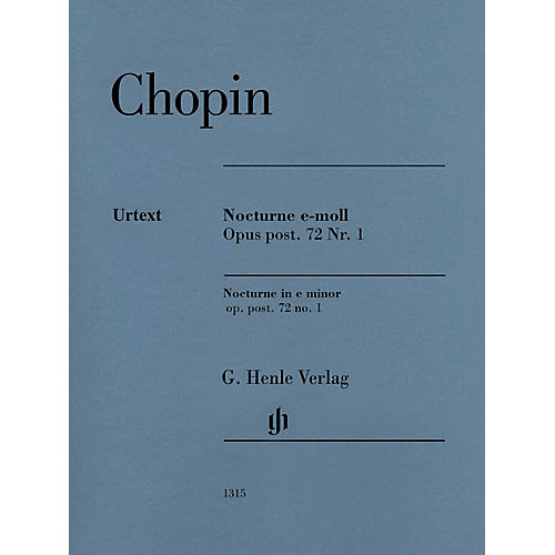 G. Henle Verlag Nocturne in E Minor Op. Post. 72, No. 1 (Edition with Fingering) Henle Music Folios Series Softcover