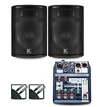 Notepad-5 Mixer and Kustom HiPAC Speakers 12