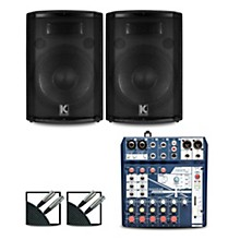 Notepad8FX Mixer and Kustom HiPAC Speakers 12