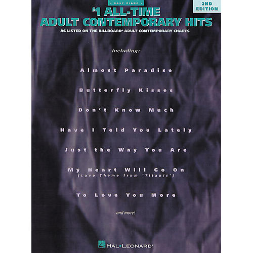 Hal Leonard Number 1 All Time Adult Contemporary Hits For Easy Piano