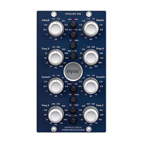 Elysia Nvelope 500 Series Stereo Impulse Shaper with Dual EQ Capabilities
