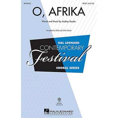 Hal Leonard O, Afrika 3-Part Mixed Composed by Audrey Snyder