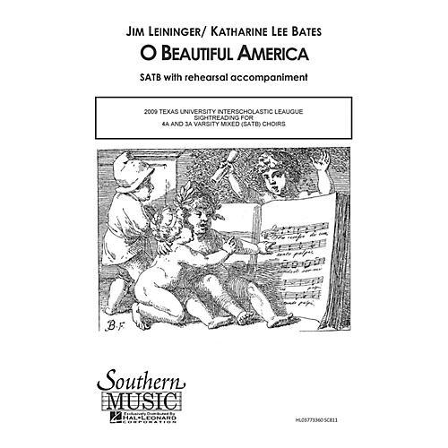 Hal Leonard O Beautiful America (Choral Music/Octavo Secular Satb) SATB Composed by Leininger, Jim