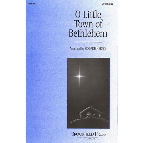 Brookfield O Little Town of Bethlehem SATB arranged by Howard Helvey