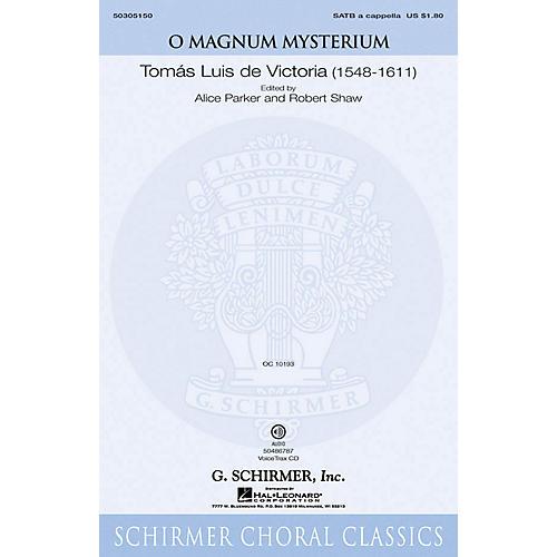 G. Schirmer O Magnum Mysterium VoiceTrax CD Composed by De Victoria