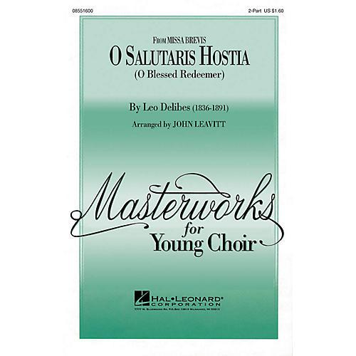 Hal Leonard O Salutaris Hostia (from Missa Brevis) (2-Part and Piano) 2-Part arranged by John Leavitt