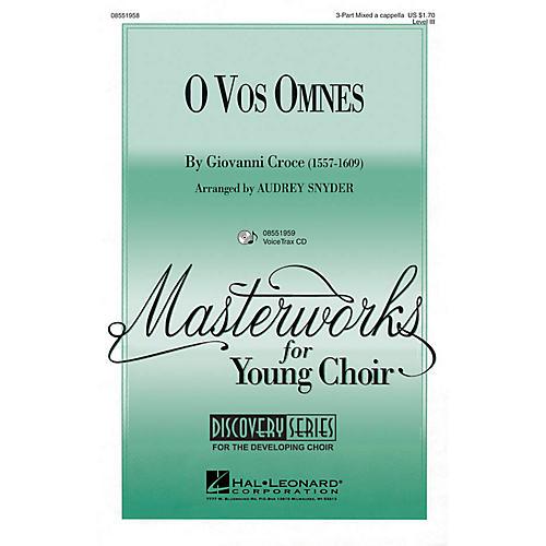 Hal Leonard O Vos Omnes VoiceTrax CD Arranged by Audrey Snyder