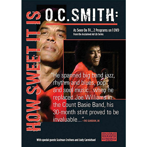 Hal Leonard O.C. Smith - How Sweet It Is (Visions of Jazz Series) DVD Series DVD Performed by O.C. Smith