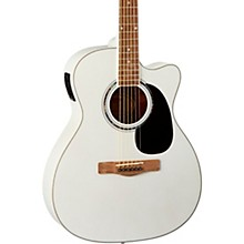 O120CEWPM Auditorium Acoustic-Electric Guitar White Pearl Metallic