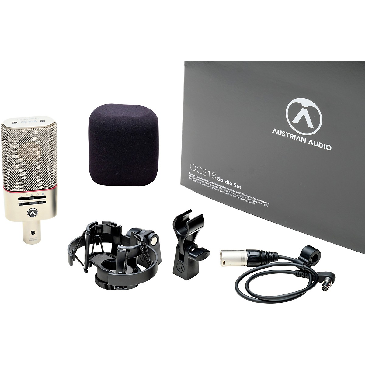 Austrian Audio OC818 Multi-pattern Large-diaphragm Condenser Microphone - Studio Set