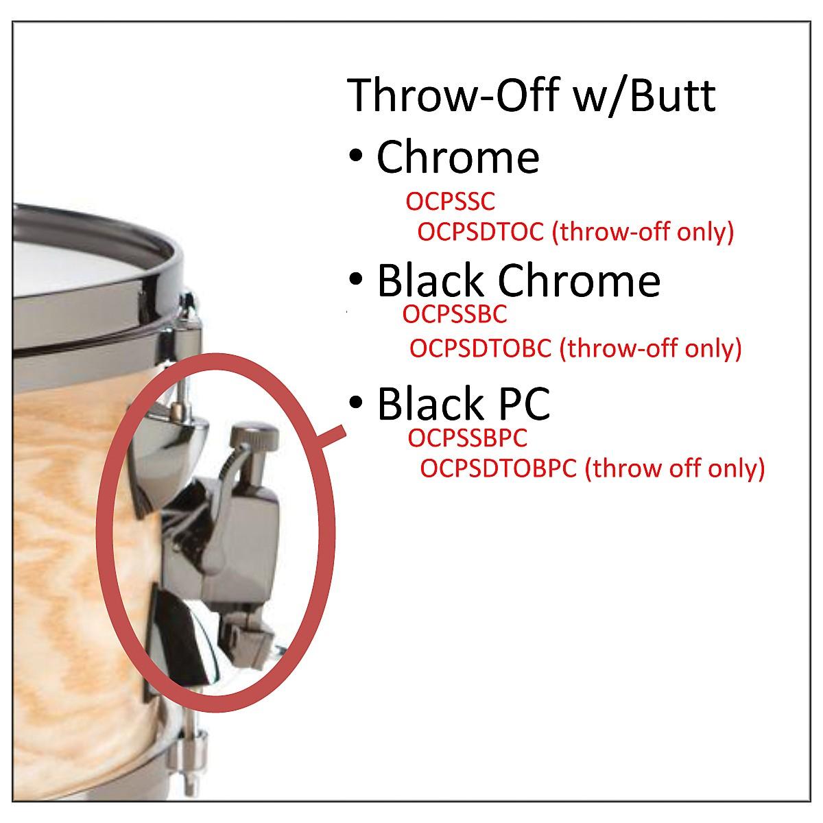 Orange County Drum & Percussion OCPSDTOBPC SNARE THROW OFF BLK PWD COAT