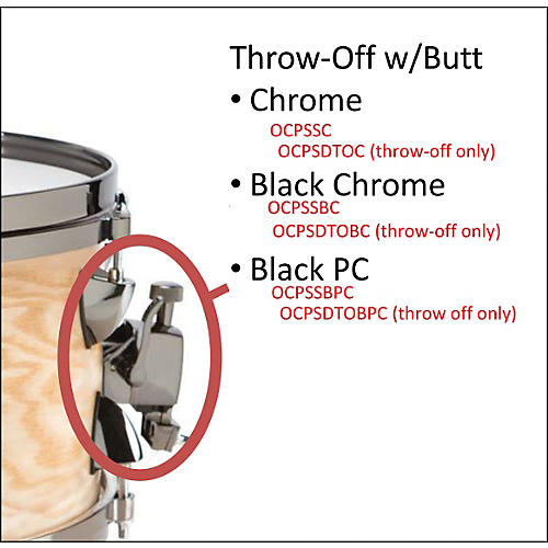 Orange County Drum & Percussion OCPSDTOC SNARE THROW OFF CHROME
