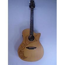 Luna Guitars OLC TATTOO Acoustic Electric Guitar