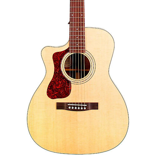 Guild OM-140LCE Orchestra Left-Handed Acoustic-Electric Guitar