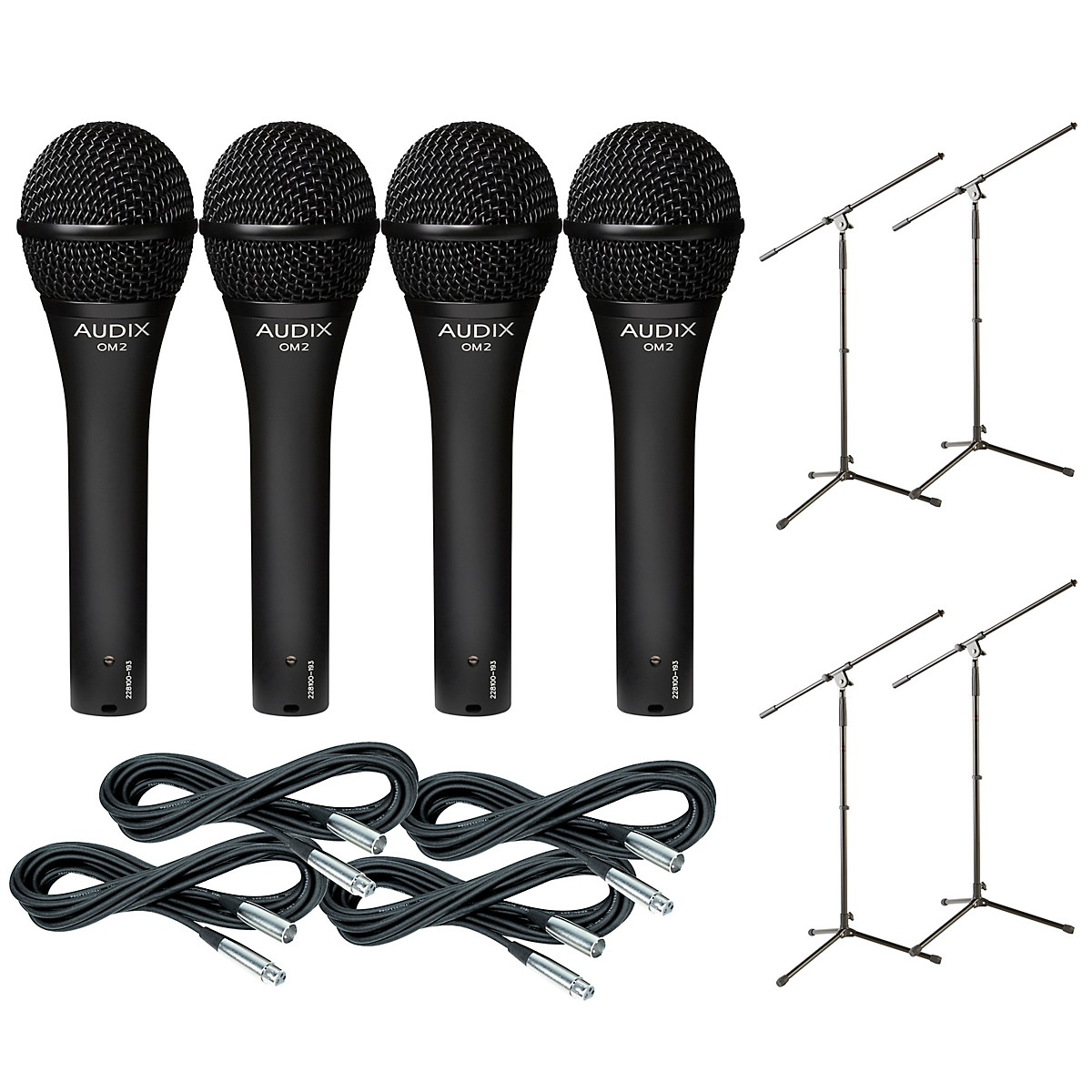 Audix OM-5 Mic with Cable and Stand 4 Pack