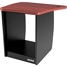 Omnirax OM13L 13-Rackspace Cabinet for Left Side of the OmniDesk - Mahogany