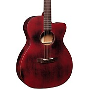 OMC-15ME StreetMaster Orchestra Acoustic-Electric Guitar Weathered Red
