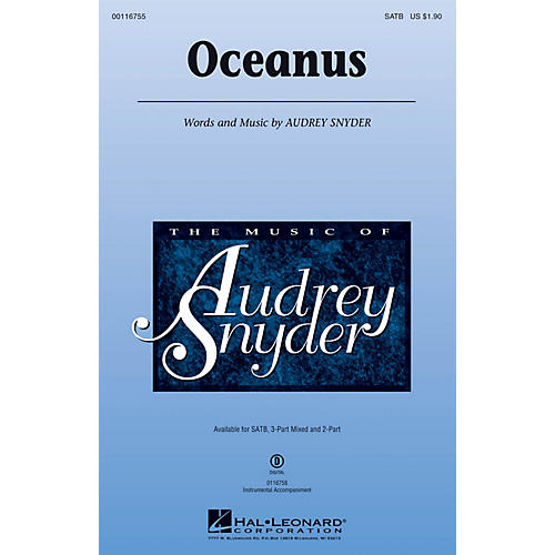 Hal Leonard Oceanus 3-Part Mixed Composed by Audrey Snyder