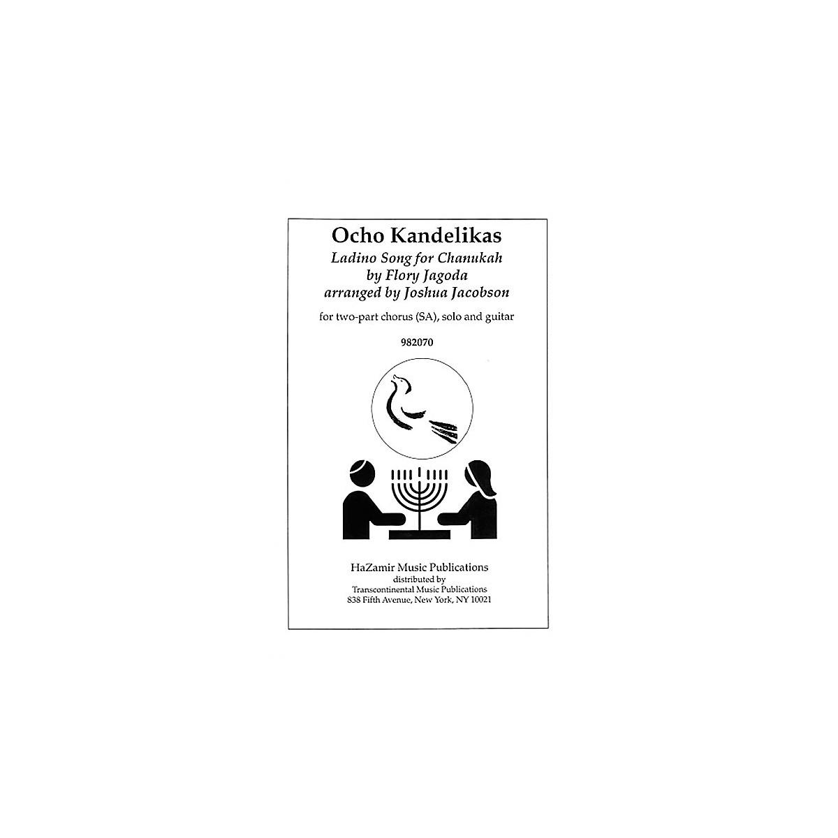 Transcontinental Music Ocho Kandelikas (Eight Little Candles) SA arranged by Joshua Jacobson