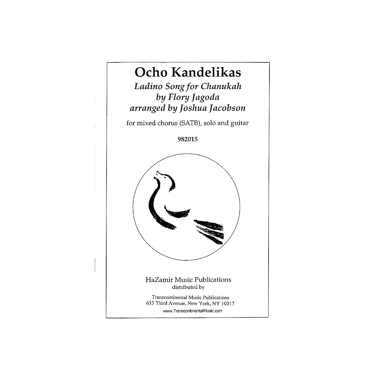 Transcontinental Music Ocho Kandelikas (Eight Little Candles) SATB arranged by Joshua Jacobson